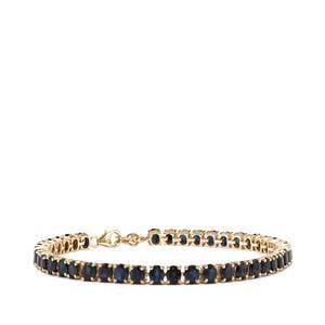 Australian Blue Sapphire Bracelet in 10k Gold 12.90cts