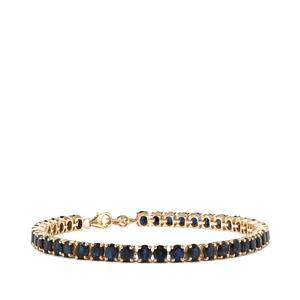 12.90ct Australian Blue Sapphire 10K Gold Tomas Rae Bracelet