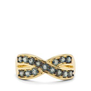 1ct Natural Nigerian Blue Sapphire 9K Gold Ring