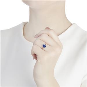 1.10ct AA Tanzanite 10K White Gold Ring