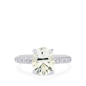 Itinga Petalite & White Topaz Sterling Silver Ring ATGW 2.29cts