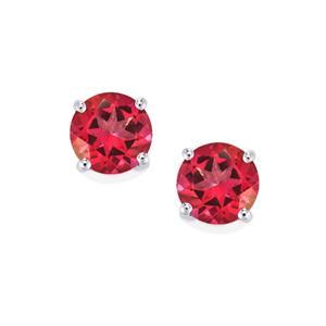 3.06ct Mystic Pink Topaz Sterling Silver Earrings