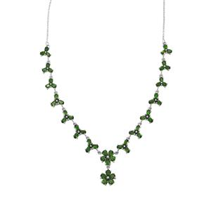 Chrome Diopside Necklace in Sterling Silver 13.08cts