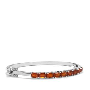 Loliondo Orange Kyanite Oval Bangle in Sterling Silver 6.52cts