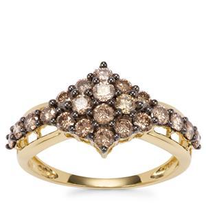 Argyle Diamond Ring in 18K Gold 1ct