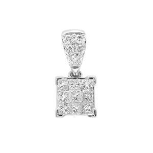 Diamond Pendant in Platinum 950 0.51ct