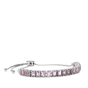 4.81ct Bahia Amethyst Sterling Silver Slider Bracelet