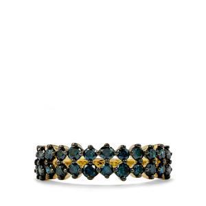 1ct Blue Diamond 10K Gold Tomas Rae Ring