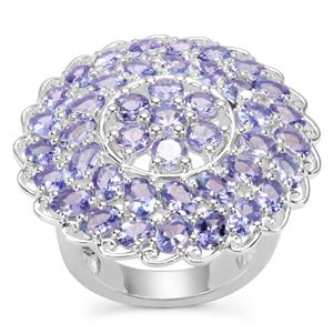 Tanzanite Ring in Sterling Silver 6.96cts