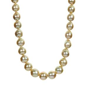 South Sea Cultured Pearl Necklace  in Sterling Silver  (9x11mm)