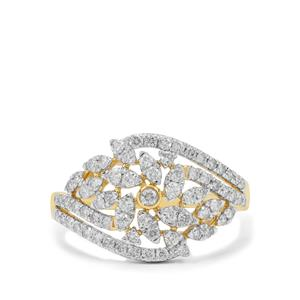 Argyle Diamond Ring in 9K Gold 0.78ct