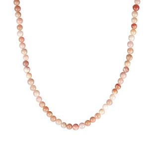 93ct Peruvian Pink Opal Sterling Silver Slider Necklace