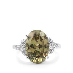 Csarite® Ring with Diamond in 18K White Gold 6.55cts