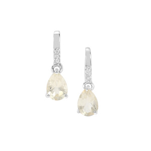 Serenite Earrings with White Zircon in Sterling Silver 0.71cts
