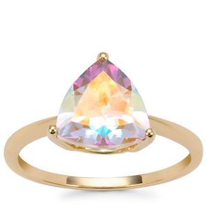 Mercury Mystic Topaz Ring in 9K Gold 2.77cts