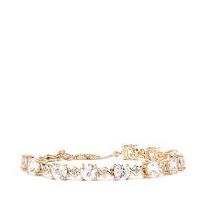 Singida Tanzanian Zircon & Diamond 10K Gold Tomas Rae Bracelet ATGW 9.43cts