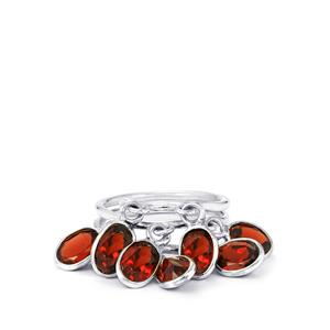 7ct Mozambique Garnet Sterling Silver Aryonna Ring