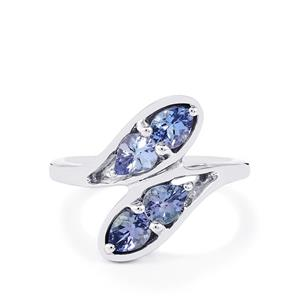 1.17ct Tanzanite Sterling Silver Ring