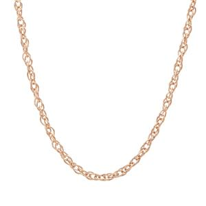"""24"""" Rose Midas Classico Prince Of Wales Slider Chain 2.31g"""