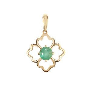 Zambian Emerald Pendant in 10K Gold 0.59ct