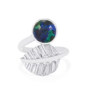 Azure Malachite Ring in Sterling Silver 2.91cts
