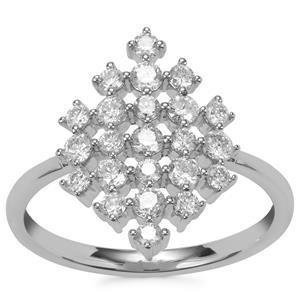 Diamond Ring in Platinum 950 0.76ct