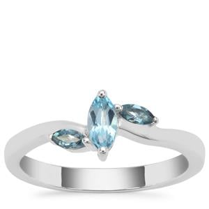 Swiss Blue Topaz Ring with Marambaia London Blue Topaz in Sterling Silver 0.45ct