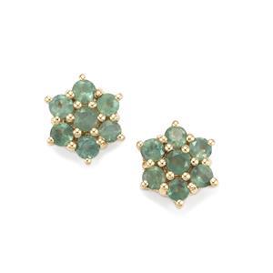 0.78ct Alexandrite 10K Gold Earrings