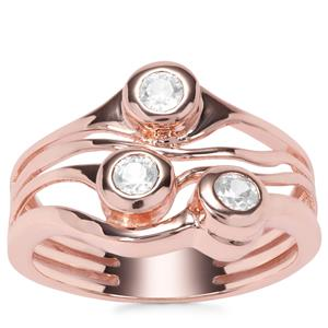 Ratanakiri Zircon Ring in Rose Gold Plated Sterling Silver 0.45ct