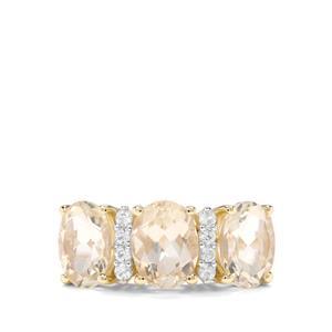 Serenite & Ceylon Sapphire 9K Gold Ring ATGW 3.41cts
