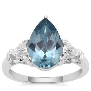Versailles Topaz Ring with White Zircon in Sterling Silver 3.53cts