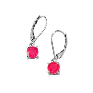 1ct Pink Opal Sterling Silver Earrings