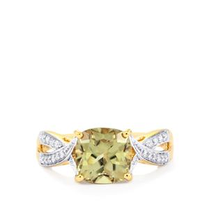 Csarite® & Diamond 18K Gold Tomas Rae Ring 2.84cts
