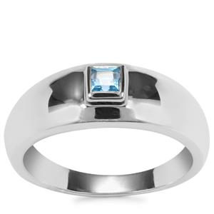 Swiss Blue Topaz Ring in Sterling Silver 0.29ct