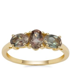 Peach Parti Oregon Sunstone Ring in 9K Gold 1.30cts
