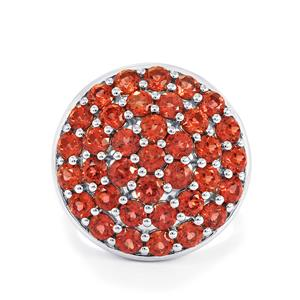 4.90ct Nampula Garnet Sterling Silver Ring