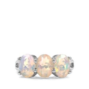 2.30ct Ethiopian Opal Sterling Silver Ring