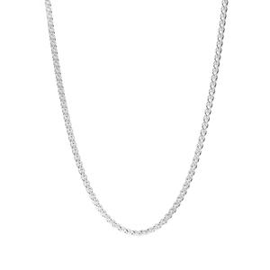 """36"""" Sterling Silver Dettaglio Spiga Chain 6.19g"""