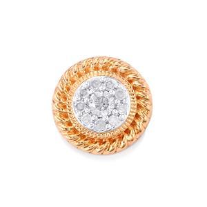1/8ct Diamond 10K Rose Gold Pendant