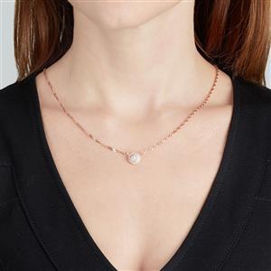 Diamond Pendant in 10k Rose Gold 0.16ct