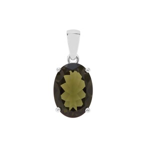 Moldavite Pendant in Sterling Silver 4.64cts