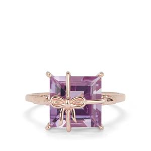 Rose De France Amethyst Ring in Rose Gold Plated Sterling Silver 4.66cts