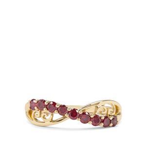 1/2ct Purple Diamond 9K Gold Tomas Rae Ring
