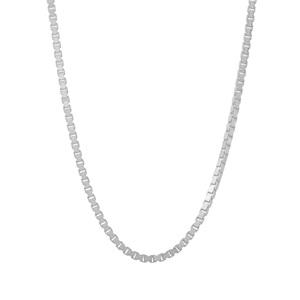 "24"" Sterling Silver Couture Diamond Cut Venetian Slider Chain 4.09g"