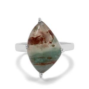 7.29ct Aquaprase™ Sterling Silver Ring