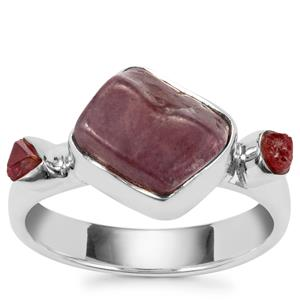 Burmese Ruby Ring in Sterling Silver 7.57cts