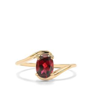1.48ct Rajasthan Garnet 10K Gold Ring