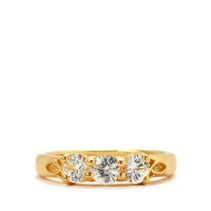 Sri Lankan Sapphire & White Topaz Ring ATGW 1.00cts