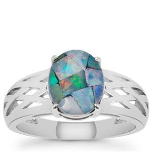 Mosaic Opal Ring in Sterling Silver (9.50 x 8mm)
