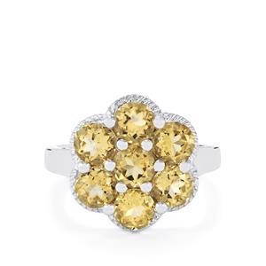 2.95ct Bolivian Natural Champagne Quartz Sterling Silver Ring